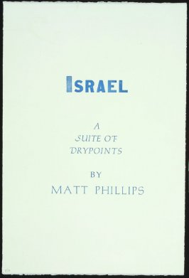 Israel: A Suite of Drypoints