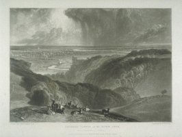 Plate 17: Arundel Castle on the River Arun, from the series 'The Rivers of England'