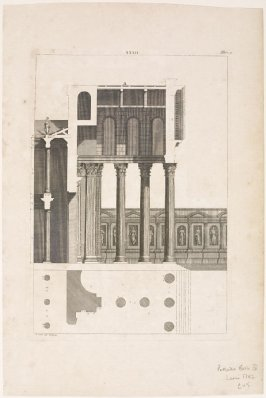 Plate XXXII from one of the Four Books of Architecture