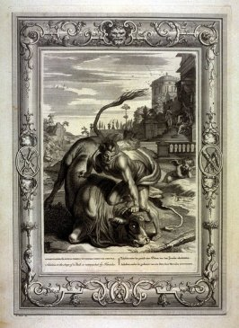 Achelous in the shape of a Bull, is vainquished by Hercules