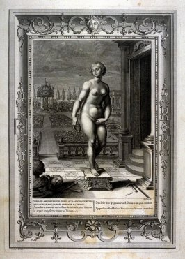Pygmalion is inamored with a Statue he had made, and Venus at his prayer transforms it into a Woman