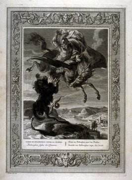 Bellerophon fights the Chimoera