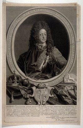 Portrait of King George I, of England, France etc.