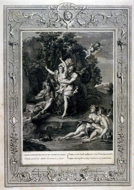 Daphne pursued by Apollo, and turned into a Laurel