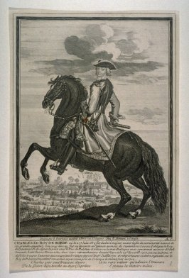 Charles, King of Sweden on horseback, born 1682