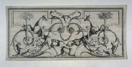 Ornate Design with dogs and deer