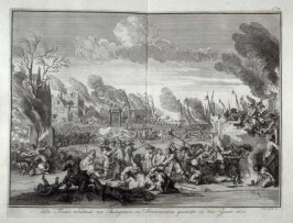 French Cruelty in Bodegrave and Swammerdam taking place in the year 1672 - Pl.53 from: Netherlands 1566-1672