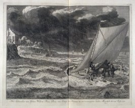 The Drowning of Johan Willem Friso Prince of Orange during the crossing of the Moerdijk on July 14 1711 - Pl.54 from: Netherlands 1566-1672