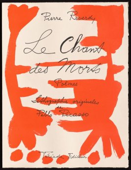 Title page, of the book Le Chant des morts (The Song of the Dead) by Pierre Reverdy (Paris: Tériade Editeur, 1948)