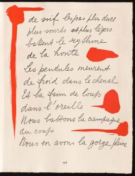 Untitled, design for page 11 of the book Le Chant des morts (The Song of the Dead) by Pierre Reverdy (Paris: Tériade Editeur, 1948)