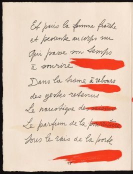Untitled, design for page 18 of the book Le Chant des morts (The Song of the Dead) by Pierre Reverdy (Paris: Tériade Editeur, 1948)
