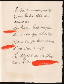 Untitled, design for page 19 of the book Le Chant des morts (The Song of the Dead) by Pierre Reverdy (Paris: Tériade Editeur, 1948)