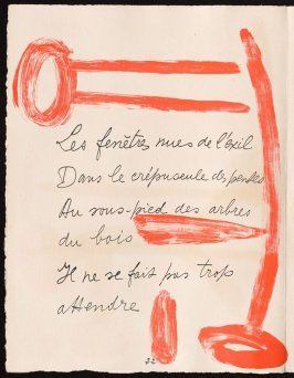 Untitled, design for page 22 of the book Le Chant des morts (The Song of the Dead) by Pierre Reverdy (Paris: Tériade Editeur, 1948)