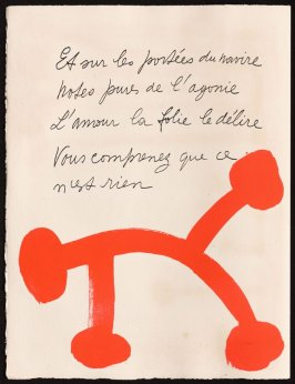Untitled, design for page 24 of the book Le Chant des morts (The Song of the Dead) by Pierre Reverdy (Paris: Tériade Editeur, 1948)