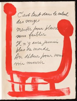 Untitled, design for page 27 of the book Le Chant des morts (The Song of the Dead) by Pierre Reverdy (Paris: Tériade Editeur, 1948)