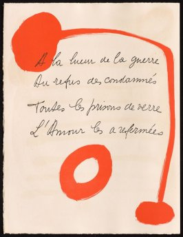 Untitled, design for page 28 of the book Le Chant des morts (The Song of the Dead) by Pierre Reverdy (Paris: Tériade Editeur, 1948)