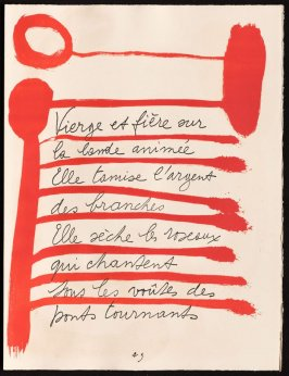Untitled, design for page 29 of the book Le Chant des morts (The Song of the Dead) by Pierre Reverdy (Paris: Tériade Editeur, 1948)