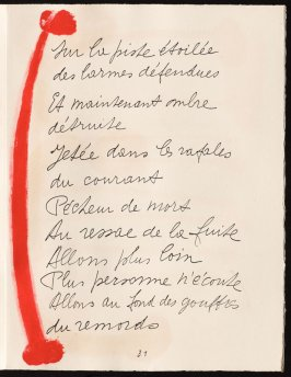 Untitled, design for page 31 of the book Le Chant des morts (The Song of the Dead) by Pierre Reverdy (Paris: Tériade Editeur, 1948)