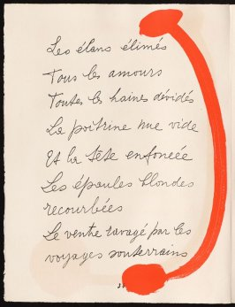 Untitled, design for page 34 of the book Le Chant des morts (The Song of the Dead) by Pierre Reverdy (Paris: Tériade Editeur, 1948)