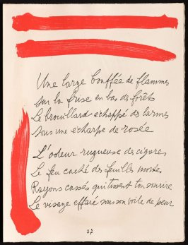 Untitled, design for page 37 of the book Le Chant des morts (The Song of the Dead) by Pierre Reverdy (Paris: Tériade Editeur, 1948)
