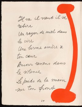 Untitled, design for page 38 of the book Le Chant des morts (The Song of the Dead) by Pierre Reverdy (Paris: Tériade Editeur, 1948)