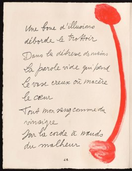 Untitled, design for page 42 of the book Le Chant des morts (The Song of the Dead) by Pierre Reverdy (Paris: Tériade Editeur, 1948)