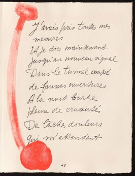 Untitled, design for page 43 of the book Le Chant des morts (The Song of the Dead) by Pierre Reverdy (Paris: Tériade Editeur, 1948)