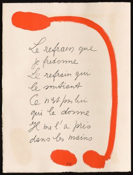 Untitled, design for page 45 of the book Le Chant des morts (The Song of the Dead) by Pierre Reverdy (Paris: Tériade Editeur, 1948)