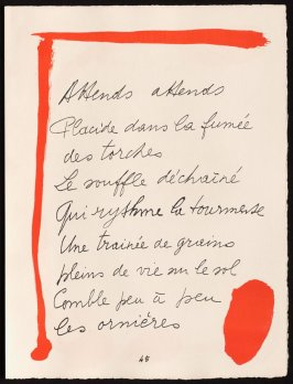 Untitled, design for page 46 of the book Le Chant des morts (The Song of the Dead) by Pierre Reverdy (Paris: Tériade Editeur, 1948)