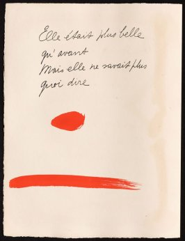 Untitled, design for page 48 of the book Le Chant des morts (The Song of the Dead) by Pierre Reverdy (Paris: Tériade Editeur, 1948)