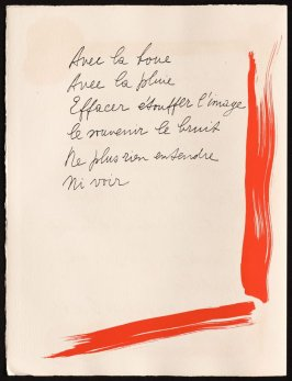Untitled, design for page 52 of the book Le Chant des morts (The Song of the Dead) by Pierre Reverdy (Paris: Tériade Editeur, 1948)