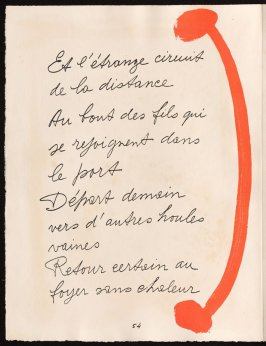 Untitled, design for page 54 of the book Le Chant des morts (The Song of the Dead) by Pierre Reverdy (Paris: Tériade Editeur, 1948)