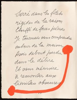 Untitled, design for page 58 of the book Le Chant des morts (The Song of the Dead) by Pierre Reverdy (Paris: Tériade Editeur, 1948)
