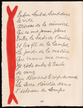 Untitled, design for page 66 of the book Le Chant des morts (The Song of the Dead) by Pierre Reverdy (Paris: Tériade Editeur, 1948)