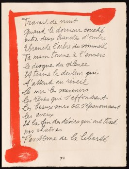 Untitled, design for page 73 of the book Le Chant des morts (The Song of the Dead) by Pierre Reverdy (Paris: Tériade Editeur, 1948)