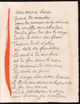 Untitled, design for page 95 of the book Le Chant des morts (The Song of the Dead) by Pierre Reverdy (Paris: Tériade Editeur, 1948)