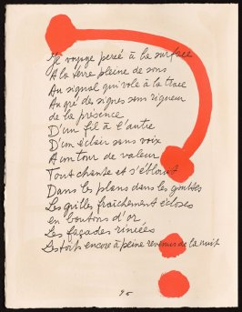 Untitled, design for page 96 of the book Le Chant des morts (The Song of the Dead) by Pierre Reverdy (Paris: Tériade Editeur, 1948)