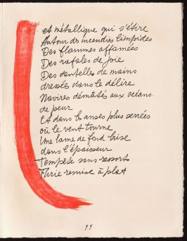 Untitled, design for page 99 of the book Le Chant des morts (The Song of the Dead) by Pierre Reverdy (Paris: Tériade Editeur, 1948)