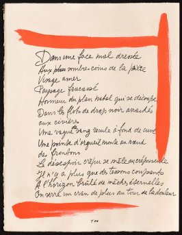 Untitled, design for page 100 of the book Le Chant des morts (The Song of the Dead) by Pierre Reverdy (Paris: Tériade Editeur, 1948)