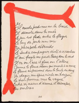Untitled, design for page 102 of the book Le Chant des morts (The Song of the Dead) by Pierre Reverdy (Paris: Tériade Editeur, 1948)