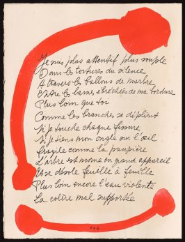 Untitled, design for page 104 of the book Le Chant des morts (The Song of the Dead) by Pierre Reverdy (Paris: Tériade Editeur, 1948)