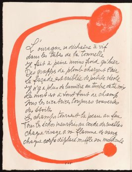 Untitled, design for page 106 of the book Le Chant des morts (The Song of the Dead) by Pierre Reverdy (Paris: Tériade Editeur, 1948)