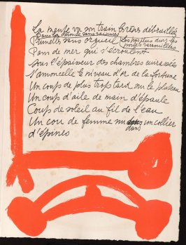 Untitled, design for page 107 of the book Le Chant des morts (The Song of the Dead) by Pierre Reverdy (Paris: Tériade Editeur, 1948)