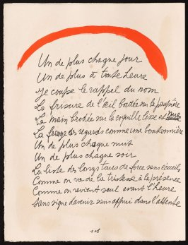 Untitled, design for page 108 of the book Le Chant des morts (The Song of the Dead) by Pierre Reverdy (Paris: Tériade Editeur, 1948)