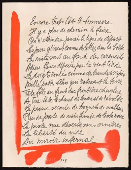 Untitled, design for page 109 of the book Le Chant des morts (The Song of the Dead) by Pierre Reverdy (Paris: Tériade Editeur, 1948)