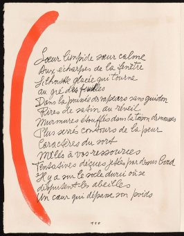 Untitled, design for page 110 of the book Le Chant des morts (The Song of the Dead) by Pierre Reverdy (Paris: Tériade Editeur, 1948)