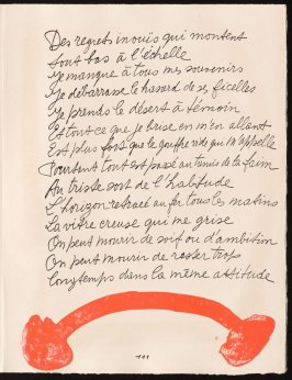 Untitled, design for page 111 of the book Le Chant des morts (The Song of the Dead) by Pierre Reverdy (Paris: Tériade Editeur, 1948)