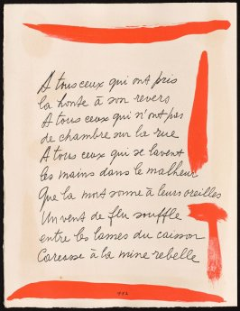 Untitled, design for page 112 of the book Le Chant des morts (The Song of the Dead) by Pierre Reverdy (Paris: Tériade Editeur, 1948)