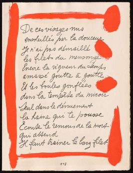 Untitled, design for page 113 of the book Le Chant des morts (The Song of the Dead) by Pierre Reverdy (Paris: Tériade Editeur, 1948)