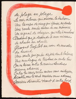 Untitled, design for page 114 of the book Le Chant des morts (The Song of the Dead) by Pierre Reverdy (Paris: Tériade Editeur, 1948)